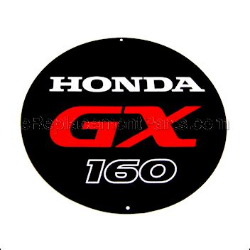 Emblem Gx emblem gx160 87521 zh8 040 for honda lawn equipment