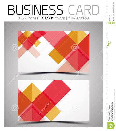 Geometric Patterns Card Template by Vector Cmyk Business Card Design Template Royalty Free