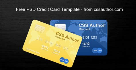 Awesome Credit Card Template Psd For Free Download Freebie No 21 Card Psd Template Free