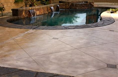 Patio Surfaces Options by Pool Deck Surface Material Comparison The Concrete Network