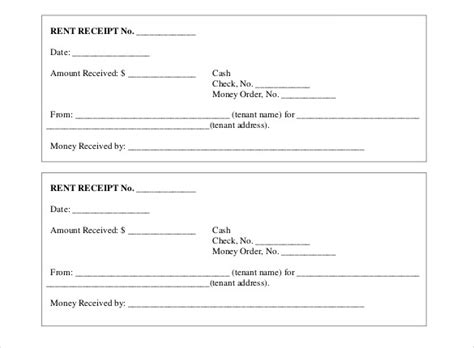 house rent receipt template doc 35 rental receipt templates doc pdf excel free