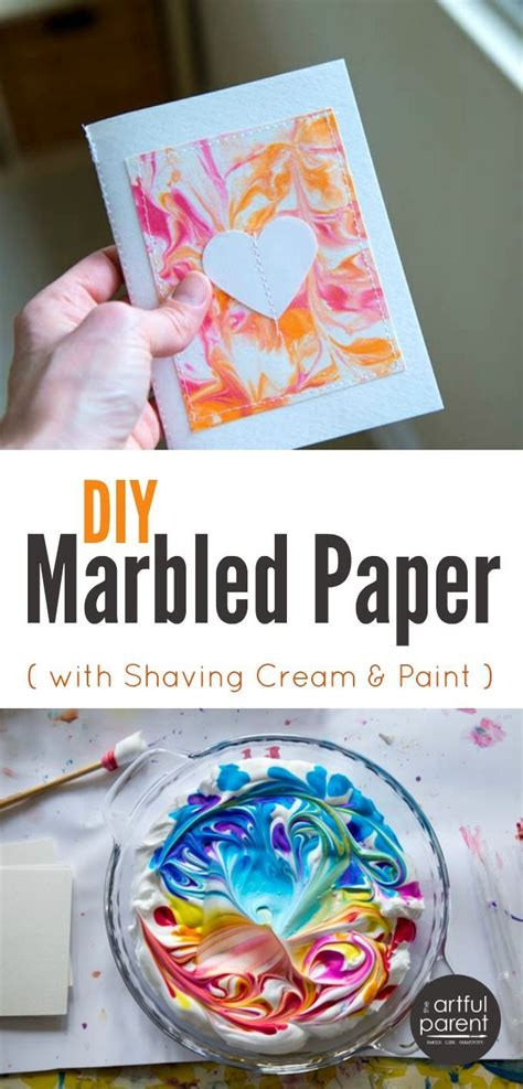 Marbled Paper Craft - diy marbled paper the best easiest cheapest method
