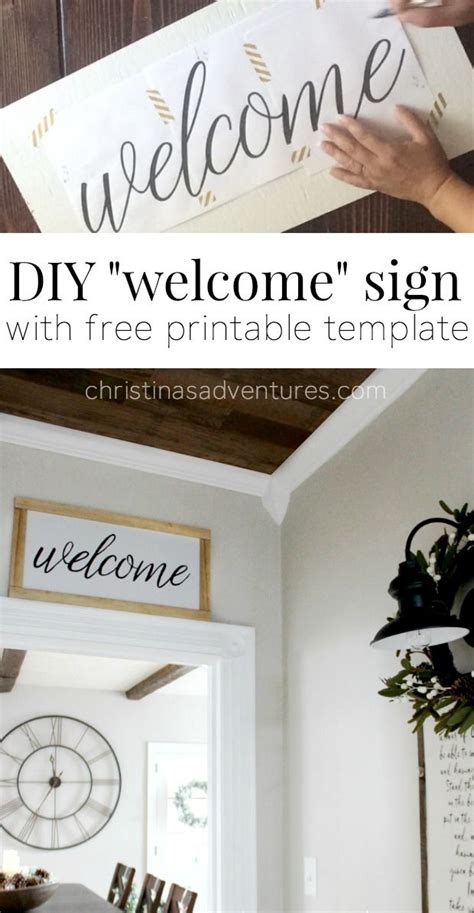 91 Best Images About Farmhouse Signs On Pinterest Home Signs Easy Diy And Welcome Signs Welcome Sign Template
