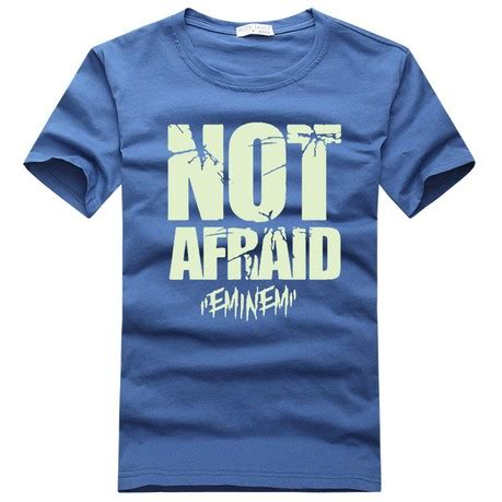 T Shir Not Afraid Eminem eminem not afraid hip hop luminous t shirts collar