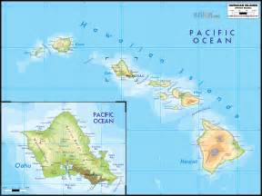 physical map of hawaii ezilon maps