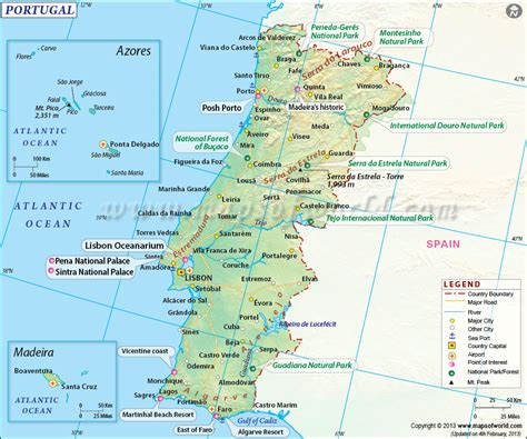 map of azores map of portugal portugal map
