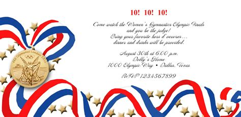 Olympics Party Invitation Mickey Mouse Invitations Templates Olympic Invitation Template