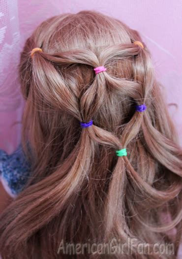easy hairstyles for american dolls with hair doll hairstyle rainbow ponytail veil americangirlfan