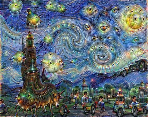 Deep Dream Styles by Google S Artificial Intelligence Paintings Auction