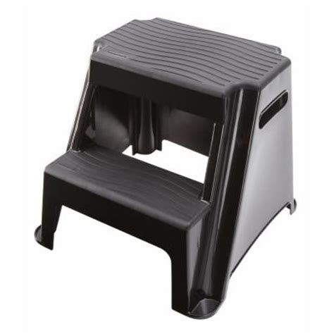 Home Depot Step Stool by Rubbermaid 2 Step Molded Plastic Step Stool Discontinued Rm P2 The Home Depot