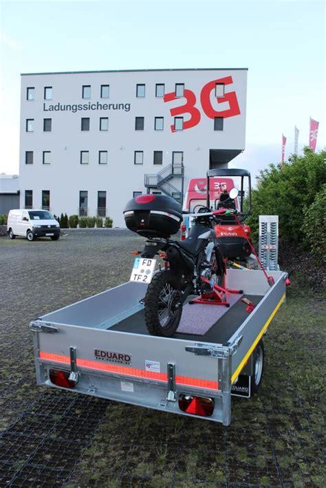 Motorradtransport Verzurren by Motorrad Transportieren