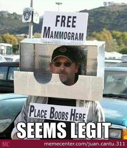 Free Funny Memes - free mammogram by recyclebin meme center