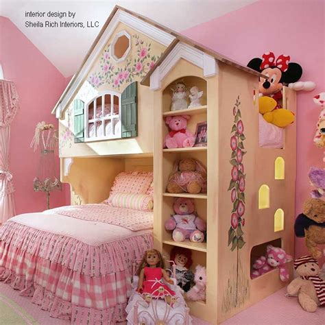 doll house bunk bed dollhouse loft bed themed beds by tanglewood design