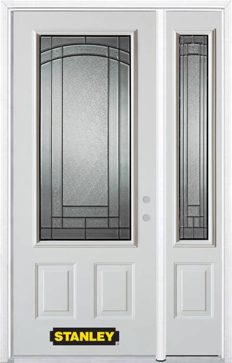 52 In X 82 In 3 4 Lite 2 Panel Pre Finished White Steel Exterior Doors Canada