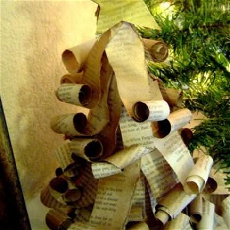 christmas crafts with used books book page trees paper crafts tip junkie