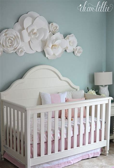 Baby Crib Colors by A Soft And Sweet Nursery With Paper Flowers Flower