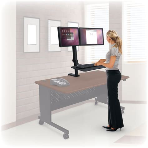 Up Rite Rear Mount Desk Mounted Sit Stand Workstation Standing At Your Desk