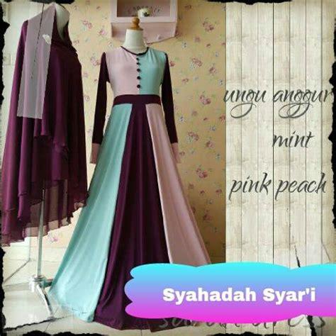 Ready Bunda Dress Gamis Syari Sleting Depan Murah gamis pesta modern syahadah syar i ready stock dan made