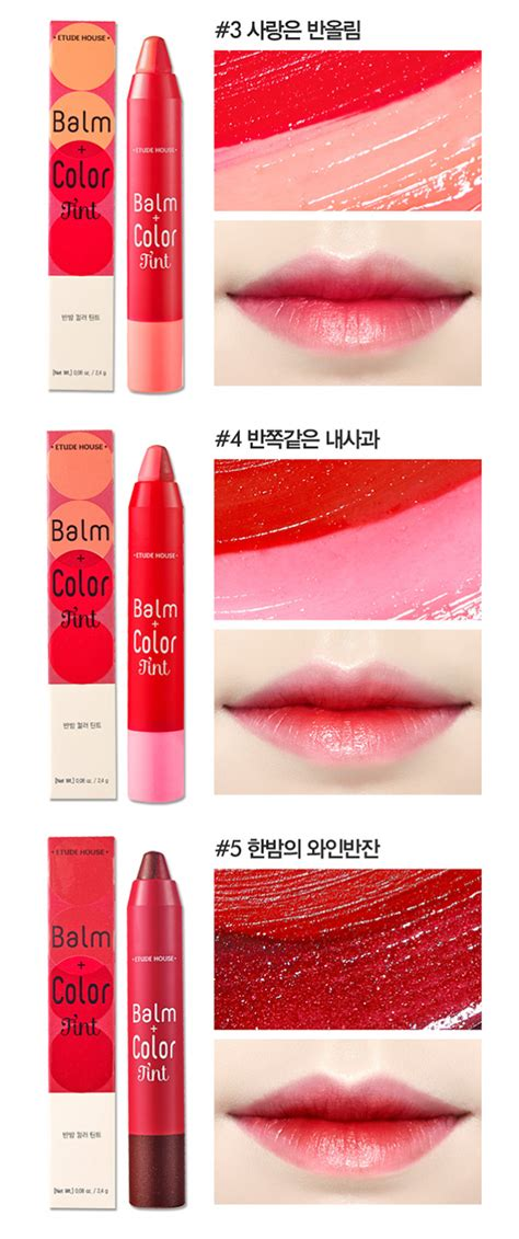 Etude House Lip Tint etude house balm color lip tint swatches memorable