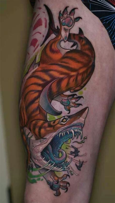 tiger shark tattoo 57 popular shark tattoos and designs
