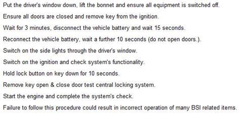 Peugeot 307 Immobiliser Reset Peugeot 206 Got A 206 03 Reg The Imobilzer Will Not Let The