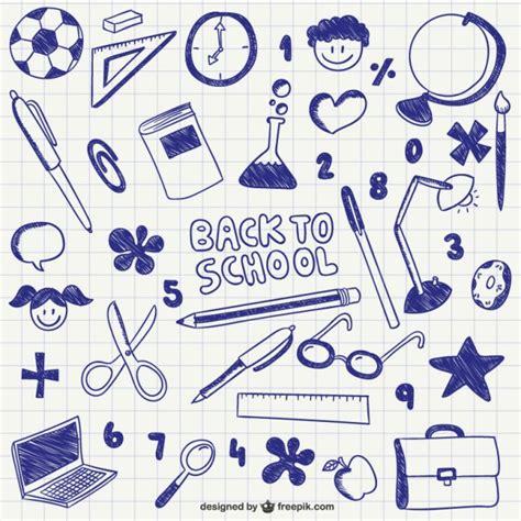free school doodle vectors back to school ink doodles vector free