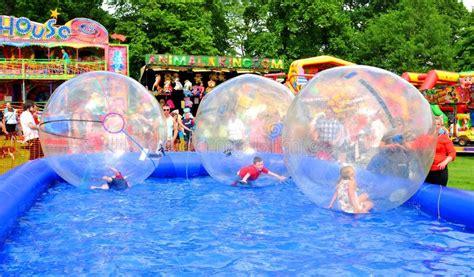 theme park nottingham water balls editorial image image 46110605