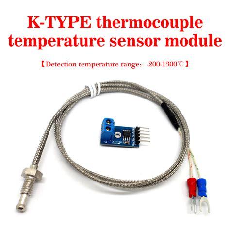 Probe Sensor Thermocouple Probe Digital Temperature K Type 50650 k type thermocouple high temperature exhaust probe sensor module kit max6675 threads new high