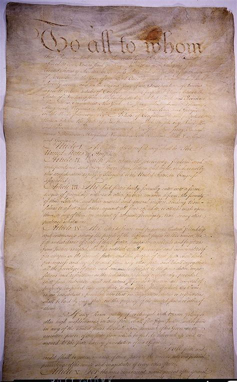 The articles of confederation to all to whom these presents