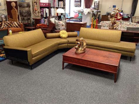Mad Men Mid Century Corner Sectional Modern Flamingo
