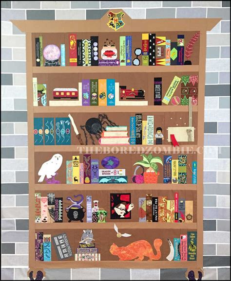 quilt pattern bookcase harry potter bookcase quilt index of posts the bored zombie