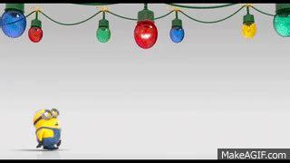 minions merry christmas    gif
