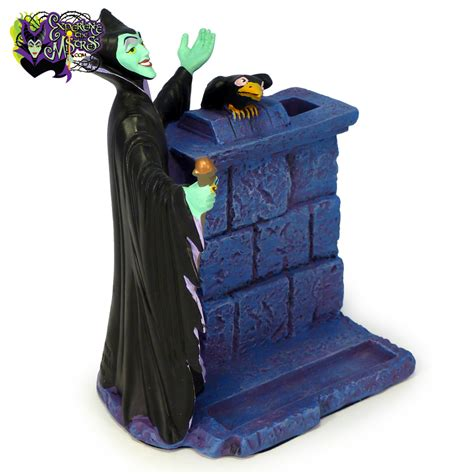 Disney Desk Accessories Monogram Disney Villains Desk Accessories Resin Figurine Maleficent Diablo Notepad Holder
