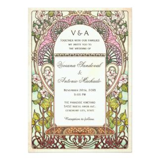 Wedding Announcement Vintage by Vintage Wedding Invitations Announcements Zazzle Uk