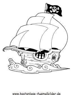 ausmalbilder malvorlagen pirat piraten schiff