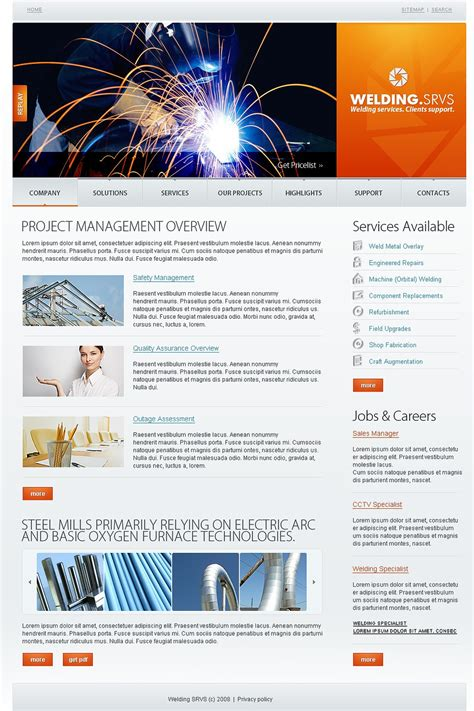 welding website template web design templates website