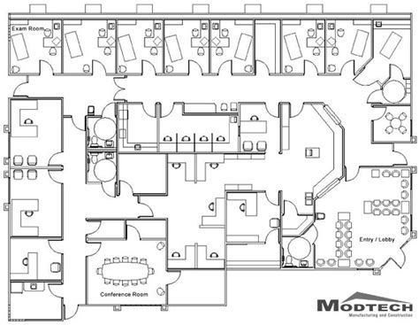 medical center floor plan an exle of a medical centre floor plan office
