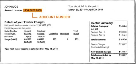 How To Read Your Electric Bill Us Power And Light Electric Bill Template