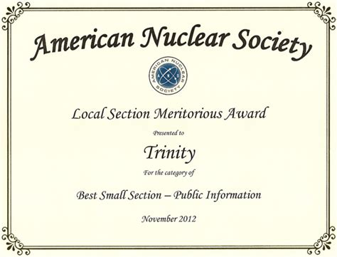society of nuclear medicine technologist section trinity section american nuclear society home page