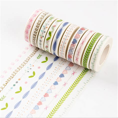 Washitape Masking 10 10m diy flower grass washi lovely adhesive masking sticker for scrapbooking home