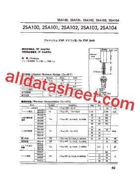 transistor equivalent list 2sa103 datasheet pdf list of unclassifed manufacturers
