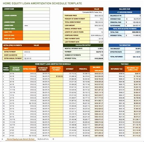 10 Monthly Amortization Schedule Excel Template Exceltemplates Exceltemplates Free Loan Amortization Schedule Excel Template