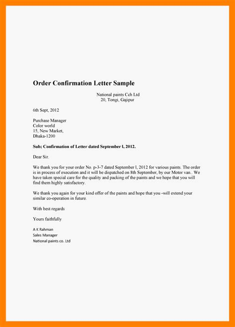 Award Confirmation Letter 9 Sle Confirmation Letters Awards Templates