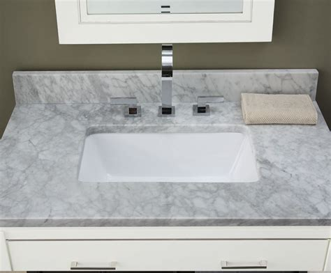Marble Bathroom Vanity Tops 37inch White Carrara Marble Vanity Top With Rectangular Cutout