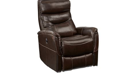 799 99 bello brown leather power swivel glider recliner