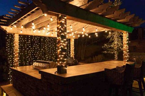 decorating backyard with lights outdoor lighting for patio decor ideasdecor ideas