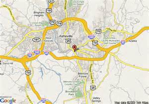 map of asheville carolina and surrounding areas map of doubletree hotel biltmore asheville asheville