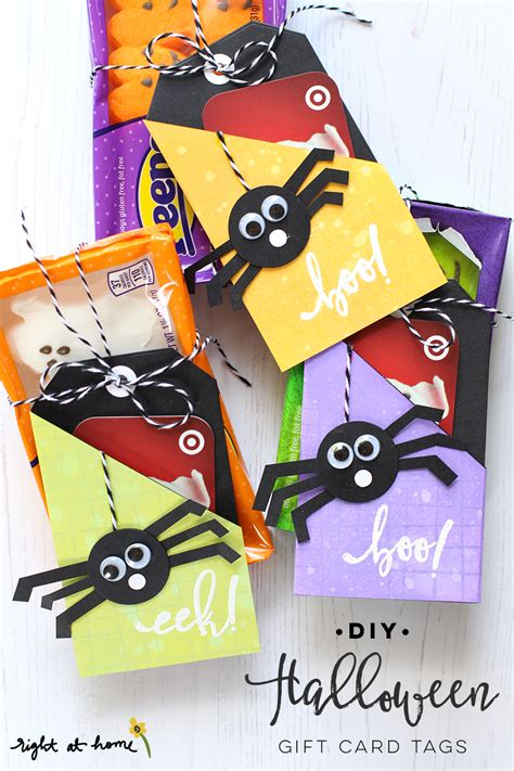 Gift Card Stickers - diy halloween gift card tags eighteen25