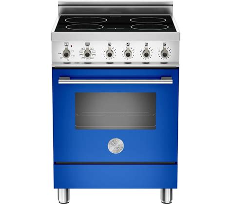 induction hob electric cookers bertazzoni x60indmfebl professional series 60cm electric cooker with induction hob blue