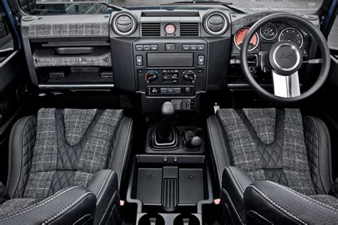 Land Rover Defender Interior Modifications by Kahn Land Rover Defender Chelsea Wide Track Revitalizes